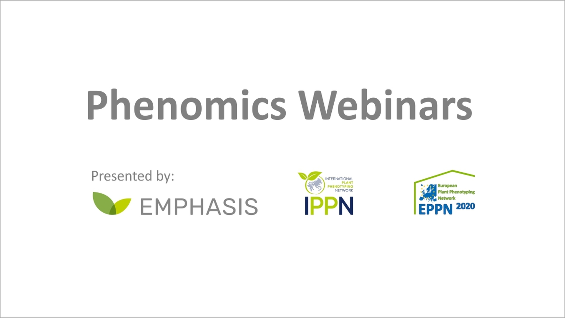 Phenomics Webinars